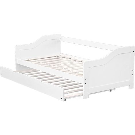 Single Wooden Bed Frame with Pull Out Underbed
