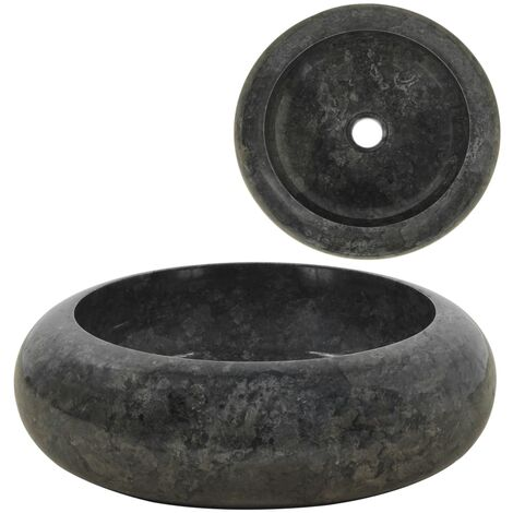 Sink 40x12 cm Marble Black