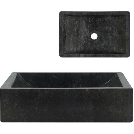 Sink 45x30x12 cm Marble Black
