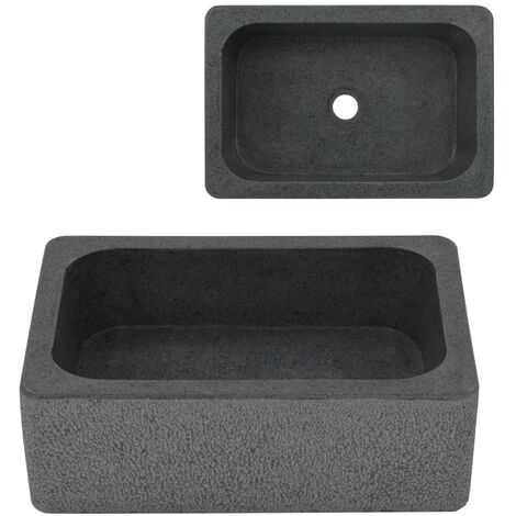 Sink 45x30x15 cm Riverstone Black