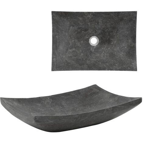 Sink 50x35x12 cm Marble Black