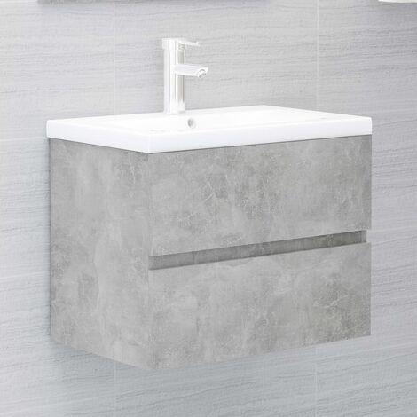 Sink Cabinet Concrete Grey 60x38.5x45 cm Chipboard