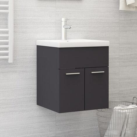 "main image of ""Sink Cabinet Grey 41x38.5x46 cm Chipboard"""
