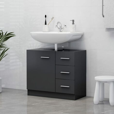 """main image of """"Sink Cabinet Grey 63x30x54 cm Chipboard37081-Serial number"""""""