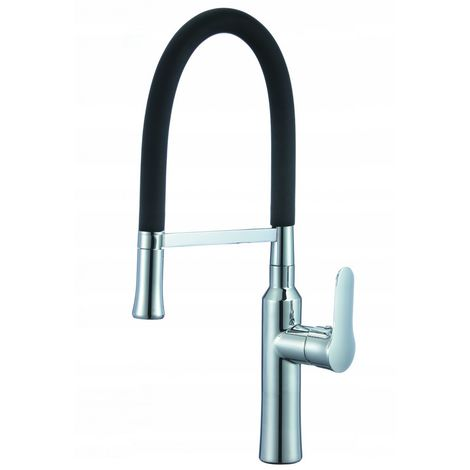 Sink faucet aria black spout