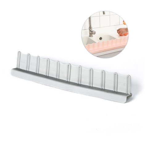 "main image of ""Sink Splash Guard Kitchen Anti-Splash Guard with Suction Cup Washing Dishes Prevent Water Splash Board Protector Basin Oil-Proof Splashproof Baffle Board,model:Grey"""