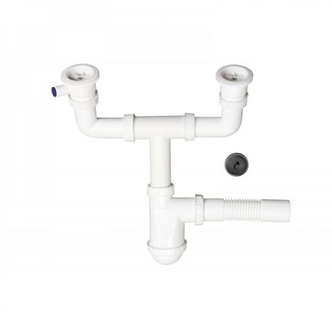 Sink trap with sink drain