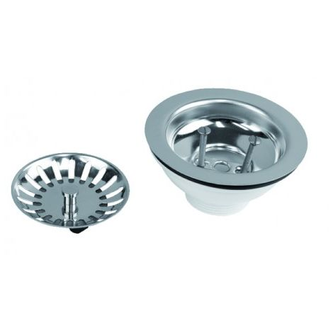 Sink waste plug with basket, no overflow pipe - NICOLL : 0204122
