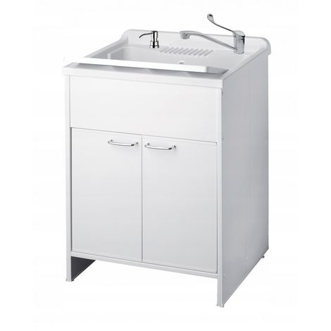 Sink with cupboard, medical faucet, dispenser, was