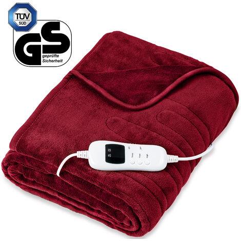sinnlein® Calienta Camas   Manta Eléctrica   Con Desconexión Automática y Temporizador   9 Niveles de Temperatura   Pantalla Digital   Lavabale hasta 40°C