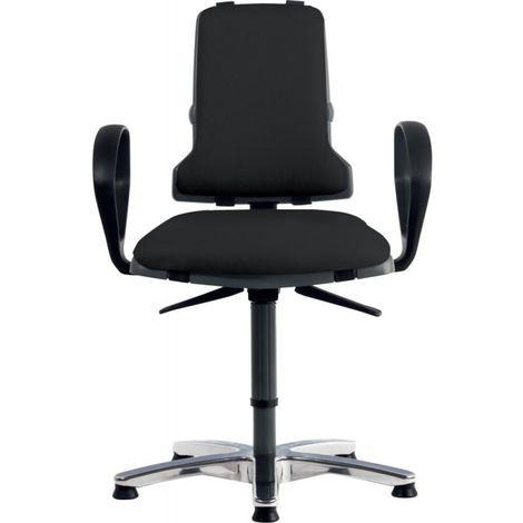 Sintec 160 Sillón de escritorio pivotante 450–640 mm y altura con ruedas deslizarse