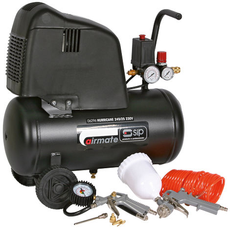 SIP 06296 Hurricane 245/25 Compressor (Free 7 Piece Kit)