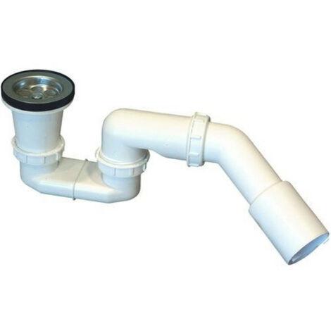 Siphon de douche avec bouchon en plastique, crépine métallique DN 50