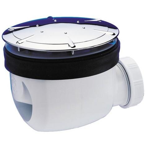 Siphon de douche diamètre 90 mm avec capot chromé