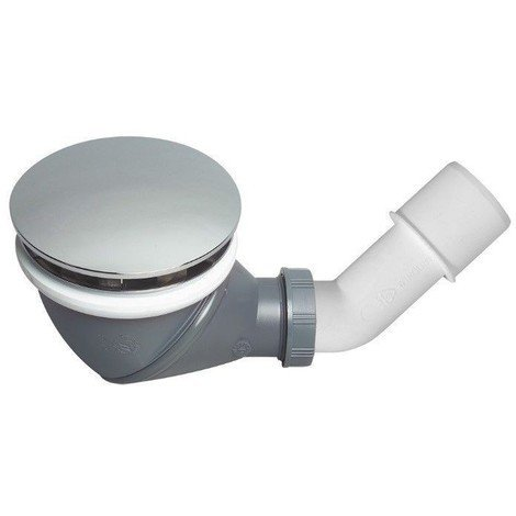 Siphon de douche diamètre 90 mm avec capot chromé « JAMES »