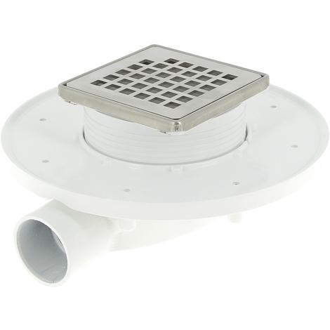 Siphon de douche Docia XS avec grille et cadre Inox 304 - Nicoll