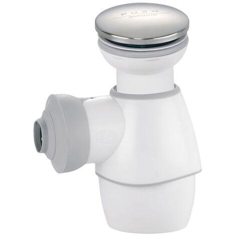 Siphon de lavabo et bonde Quick-Clac clapet chromé - ensemble tout en un blc quick clac chrome ss trop plein pro- Wirquin Pro - 30720547
