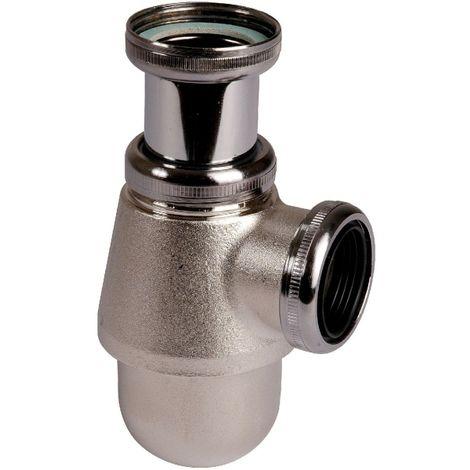 Siphon de lavabo nickelé mat réglable - 1'1/4 - Ø 32 mm - Valentin
