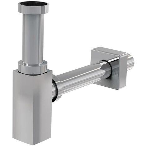 Siphon de lavabo universel design 100% métal chromé (SP SDCRH1)