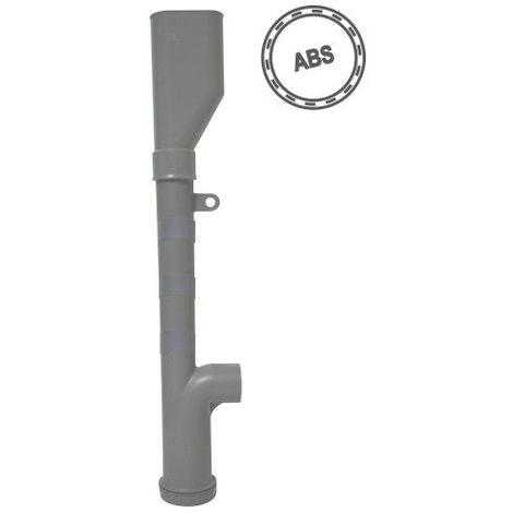 Siphon de machine à laver ABS double sortie horizontale