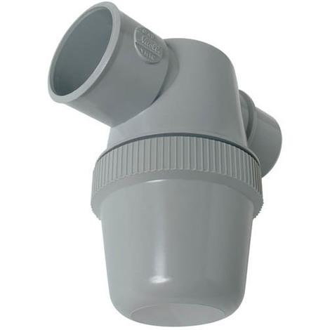 Siphon de parcours blanc ou gris PVC-C à coller - entrée horizontale