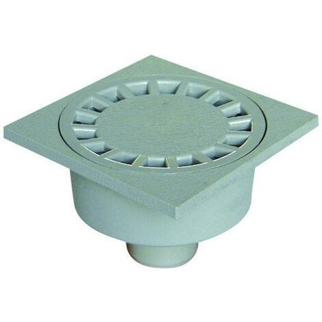 Siphon de sol 100X100 mm, couleur gris clair- ø 40 mm.