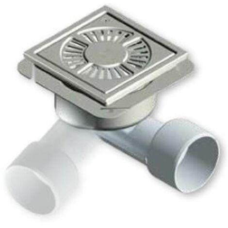 Siphon de sol 20X20 BLUCHER type 782 pour receveur a carreler ou résine - BLUCHER 20X20 SIPHON GRILLE LIBRE + PANIER PVC