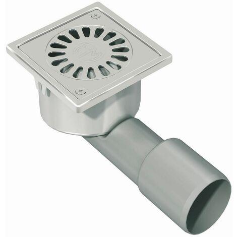 Siphon de sol COMPACT BLUCHER 10x10 et 15x15 pour receveur à carreler - Dimensions : 100 x 100 sortie Ø 40 - Débit : 0,5 l/s en vertical - 0,4 l/s en horizontal