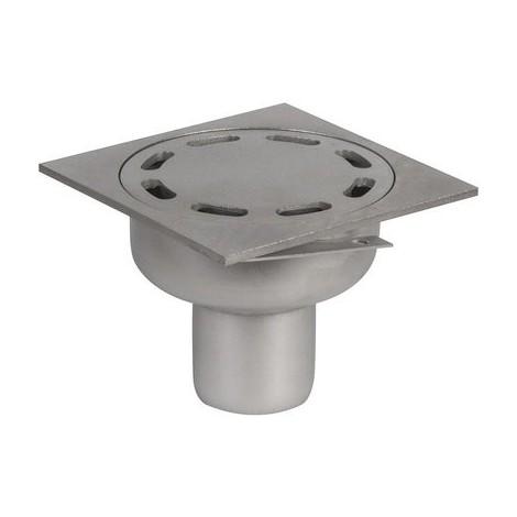 Siphon de sol inox - 100 x 100 mm - ACO
