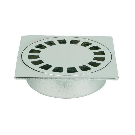 Siphon de sol laiton Solusec 100x100 mm - sortie verticale Ø32