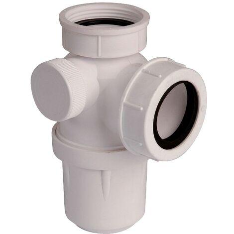 Siphon d'évier à culot blanc - 1'1/2 - Ø 40 mm - Valentin