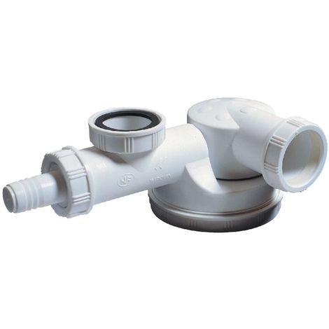 Siphon d'évier avec prise M.A.L. - 1'1/2 - Ø 40 mm - Wirquin Pro