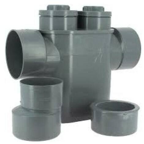 Siphon disconnecteur monobloc pour eaux usées et eaux vannes, F/F 125 ou 100 mm PVC ADEQUA