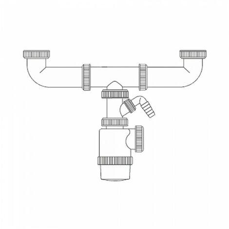 Siphon double bouteille extensible prise de machine à laver