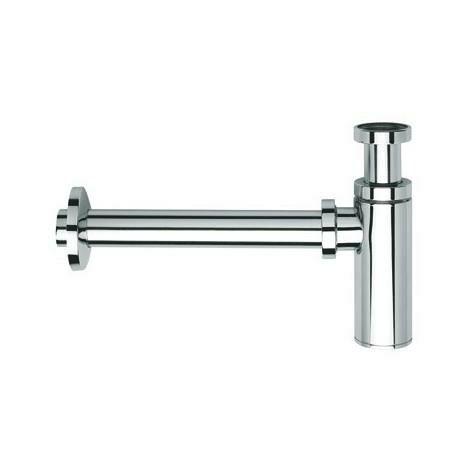 Siphon droit design 35 cm en laiton pour lavabo CHROME - CRISTINA ONDYNA MS3451