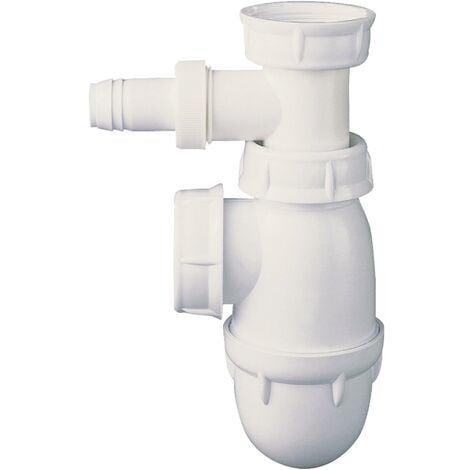 Siphon évier réglable avec prise pour mâchine à laver Ø40/49 - NF