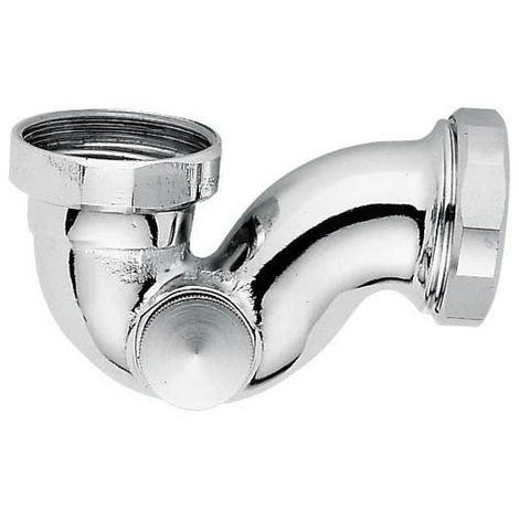 Siphon forme P lavabo bidet laiton chromé brillant