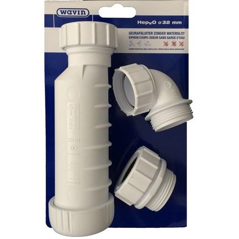 Siphon lavabo à membrane Hepvo - Wavin