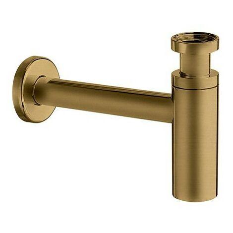 Siphon Lavabo Droit Luxe Laiton Design 35 Cm Vieux Bronze Robinetterie VIDAGES - CRISTINA ONDYNA MS3492
