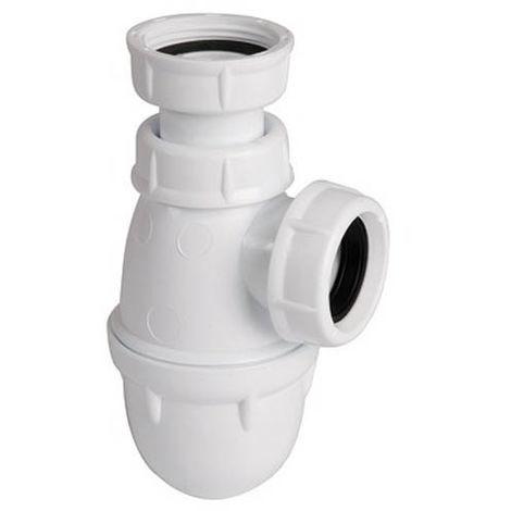 Siphon Lavabo L211 blanc tube réglable O32