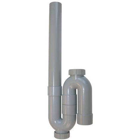Siphon machine à laver simple sortie verticale Ø40