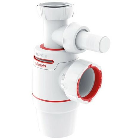 Siphon NEO Air System bi-matiere N.F Evier+prise MAL O40