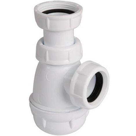 Siphon plastique blanc joint conique O32 LB221