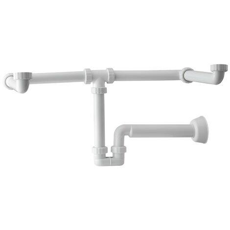 Siphon pour lavabo, salle de bain double OMP Moustique en PP 2122.054.6