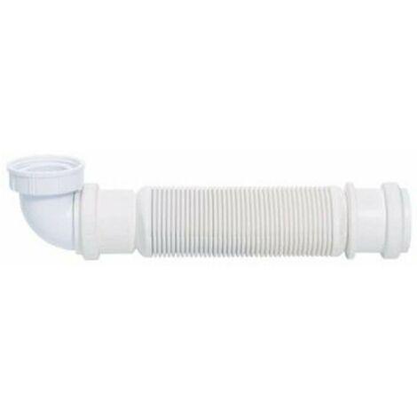 Siphon sans garde d'eau en PVC pour évier