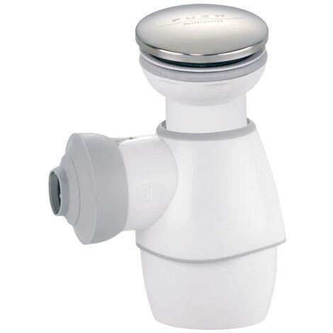Siphon Tout en un blanc avec bonde Quick clac chromée