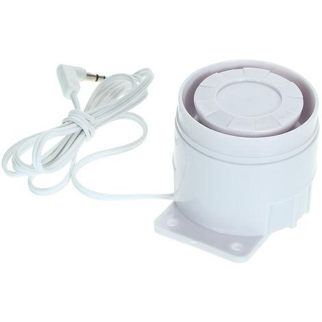 Sirena cableada externa Alarma de alerta de aviso de 110 dB, para seguridad en el hogar