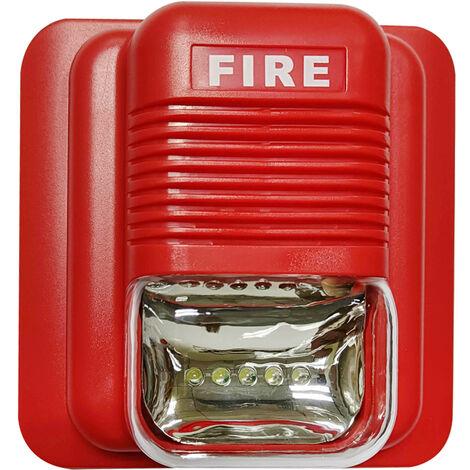 Sirena estroboscopica de alarma de incendio, Alerta de sonido y luz estroboscopica