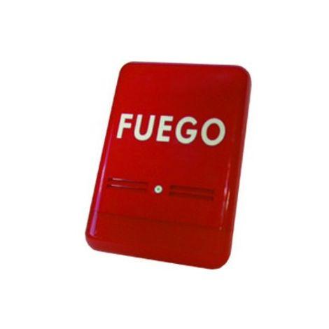 Sirena exterior óptico-acústica roja Golmar S-FUEGO