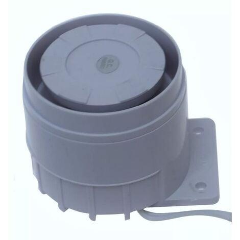 Sirène compacte 12V 120 décibels filaire universelle